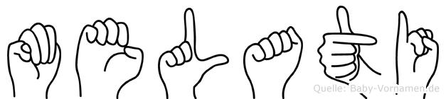 Melati im Fingeralphabet der Deutschen Gebärdensprache