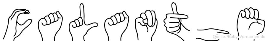 Calanthe in Fingersprache für Gehörlose