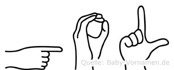 Gol in Fingersprache für Gehörlose
