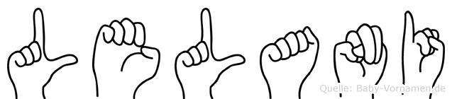 Lelani in Fingersprache für Gehörlose