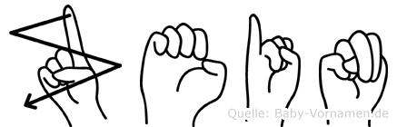 Zein im Fingeralphabet der Deutschen Gebärdensprache