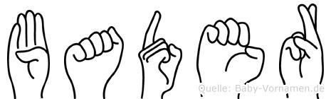 Bader im Fingeralphabet der Deutschen Gebärdensprache
