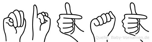 Mitat in Fingersprache für Gehörlose
