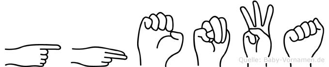 Ghenwa in Fingersprache für Gehörlose