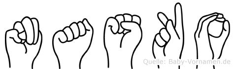 Nasko in Fingersprache für Gehörlose
