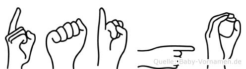 Daigo in Fingersprache für Gehörlose