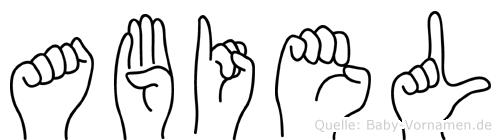 Abiel in Fingersprache für Gehörlose