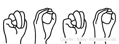 Nono im Fingeralphabet der Deutschen Gebärdensprache