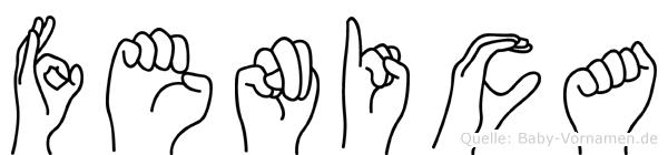 Fenica im Fingeralphabet der Deutschen Gebärdensprache