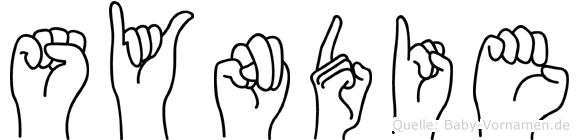 Syndie im Fingeralphabet der Deutschen Gebärdensprache