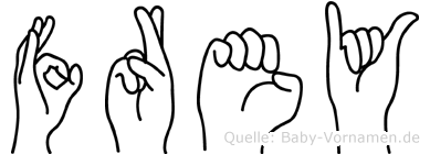 Frey in Fingersprache für Gehörlose