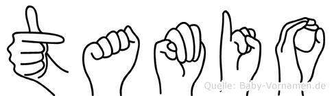 Tamio im Fingeralphabet der Deutschen Gebärdensprache