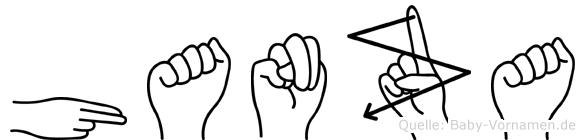 Hanza in Fingersprache für Gehörlose