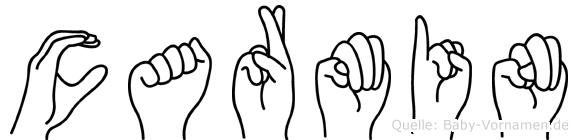 Carmin in Fingersprache für Gehörlose