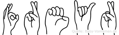 Freyr in Fingersprache für Gehörlose