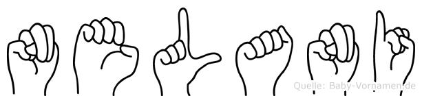 Nelani in Fingersprache für Gehörlose