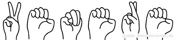 Venere im Fingeralphabet der Deutschen Gebärdensprache