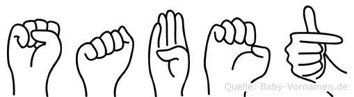 Sabet in Fingersprache für Gehörlose