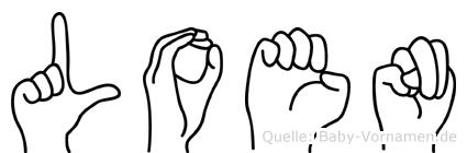 Loen im Fingeralphabet der Deutschen Gebärdensprache