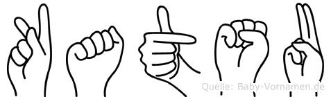 Katsu im Fingeralphabet der Deutschen Gebärdensprache