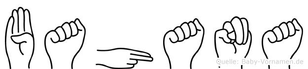 Bahana in Fingersprache für Gehörlose