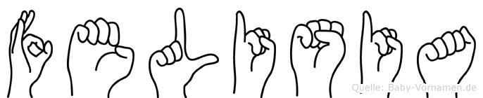 Felisia im Fingeralphabet der Deutschen Gebärdensprache