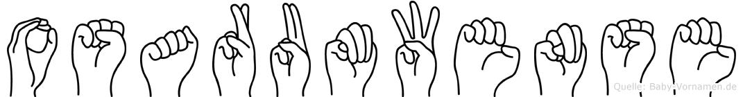 Osarumwense im Fingeralphabet der Deutschen Gebärdensprache