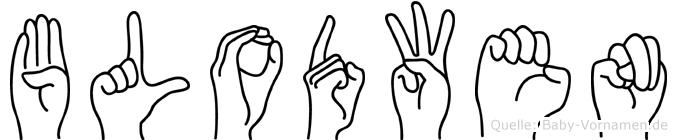 Blodwen in Fingersprache für Gehörlose