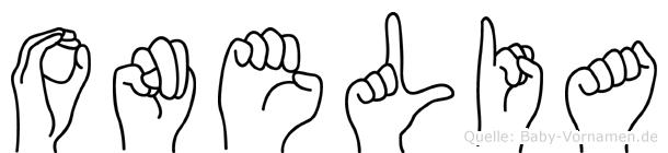 Onelia in Fingersprache für Gehörlose