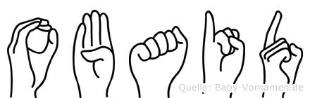 Obaid im Fingeralphabet der Deutschen Gebärdensprache