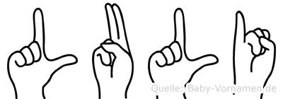 Luli im Fingeralphabet der Deutschen Gebärdensprache