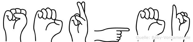 Sergei in Fingersprache für Gehörlose