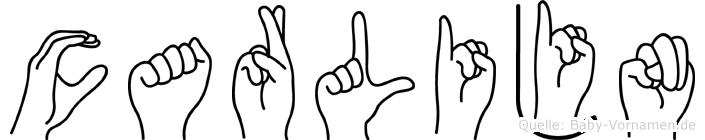 Carlijn im Fingeralphabet der Deutschen Gebärdensprache
