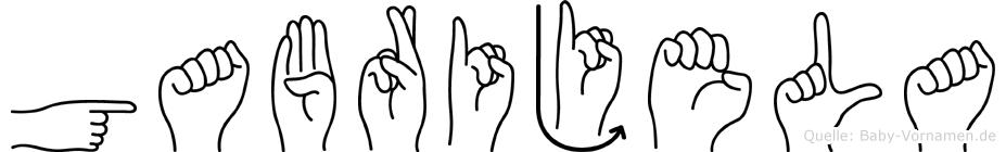 Gabrijela im Fingeralphabet der Deutschen Gebärdensprache