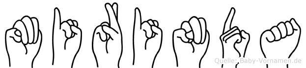 Mirinda im Fingeralphabet der Deutschen Gebärdensprache