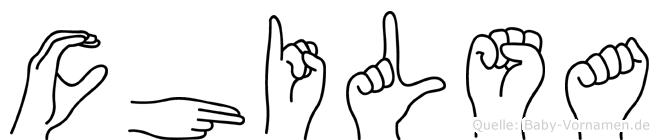 Chilsa im Fingeralphabet der Deutschen Gebärdensprache