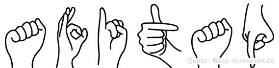Afitap im Fingeralphabet der Deutschen Gebärdensprache