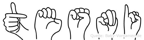 Tesni im Fingeralphabet der Deutschen Gebärdensprache