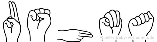 Ushma in Fingersprache für Gehörlose