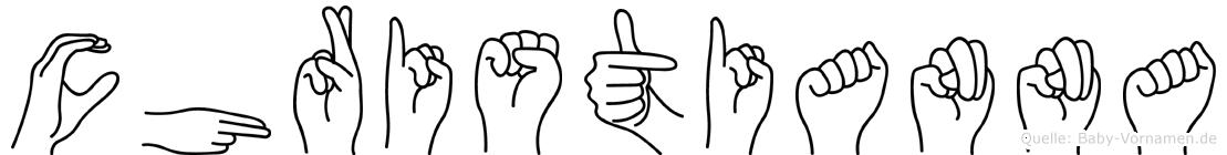 Christianna in Fingersprache für Gehörlose