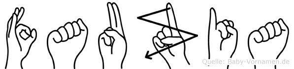 Fauzia in Fingersprache für Gehörlose