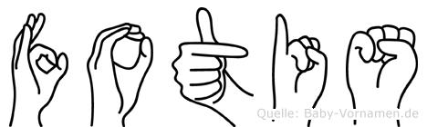 Fotis in Fingersprache für Gehörlose