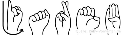 Jareb im Fingeralphabet der Deutschen Gebärdensprache
