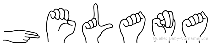 Helana in Fingersprache für Gehörlose