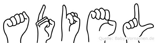 Adiel in Fingersprache für Gehörlose