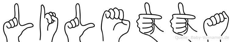 Liletta in Fingersprache für Gehörlose