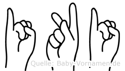 Iki in Fingersprache für Gehörlose