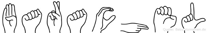Barachel im Fingeralphabet der Deutschen Gebärdensprache