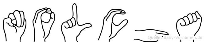 Nolcha in Fingersprache für Gehörlose