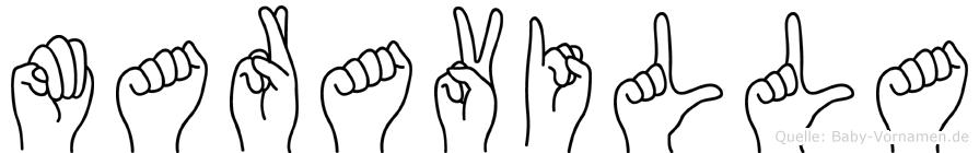 Maravilla in Fingersprache für Gehörlose